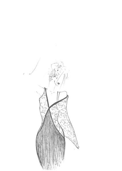 Ana Madic Art - Drawings - Fashion 002