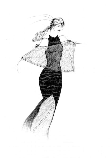Ana Madic Art - Drawings - Fashion 007